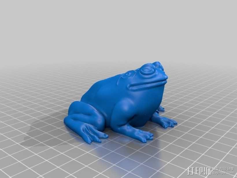 牛蛙 3D模型  图1