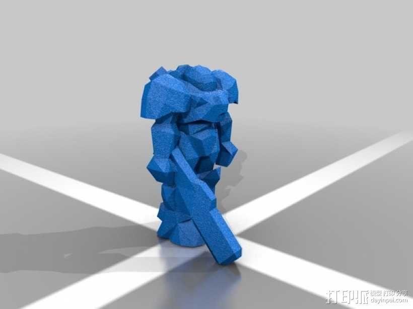 舰长吉姆·雷诺Jim Raynor 3D模型  图1