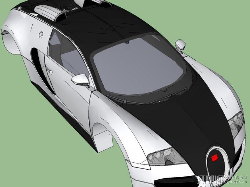布加迪威龙跑车 3D模型  图1