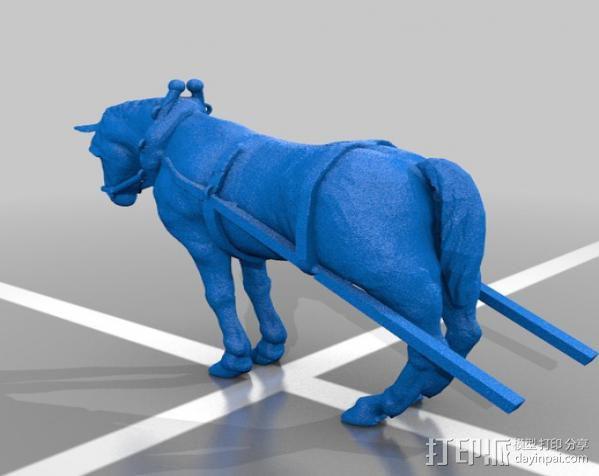 耕地的马 3D模型  图2