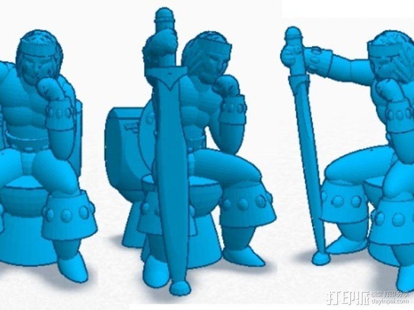 看守员 游戏造型  3D模型  图3