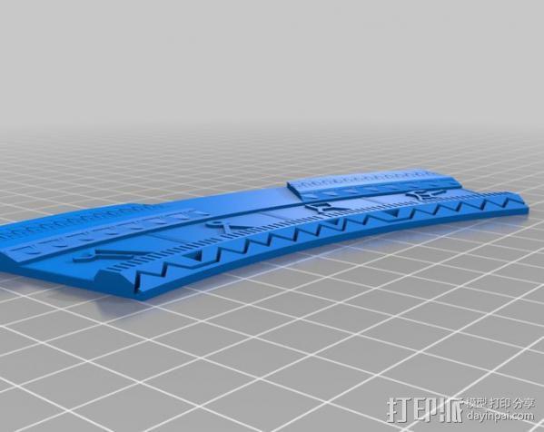V形臂章 3D模型  图2