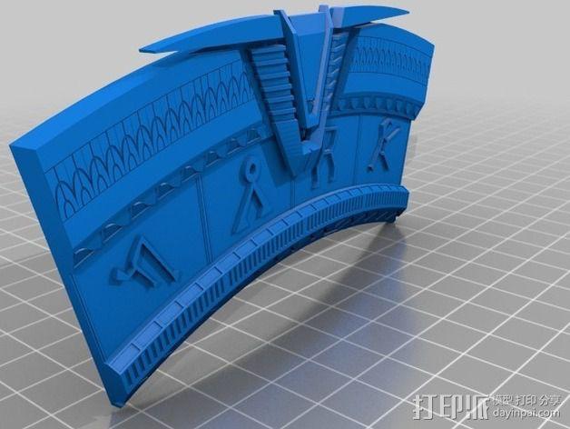 V形臂章 3D模型  图3