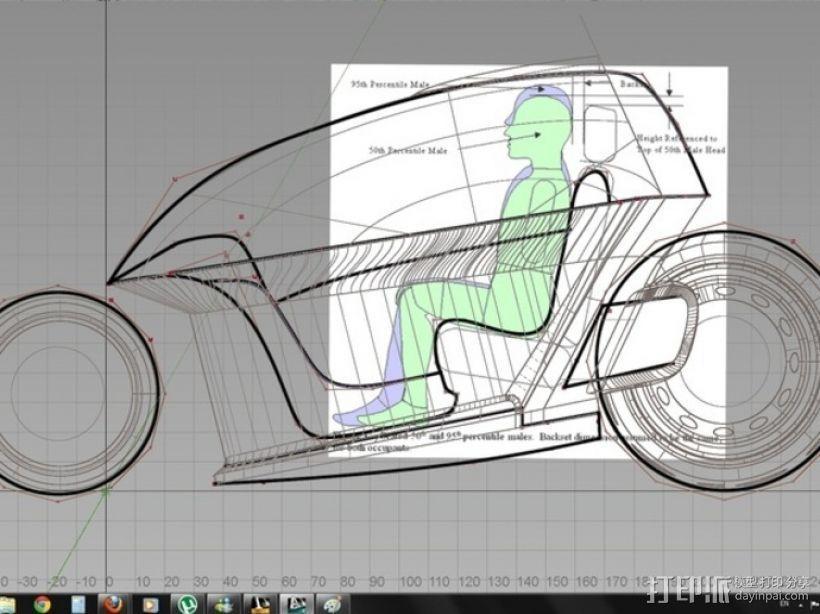 智能摩托 3D模型  图3