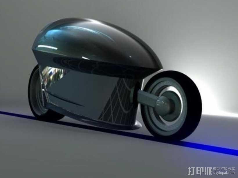 智能摩托 3D模型  图1