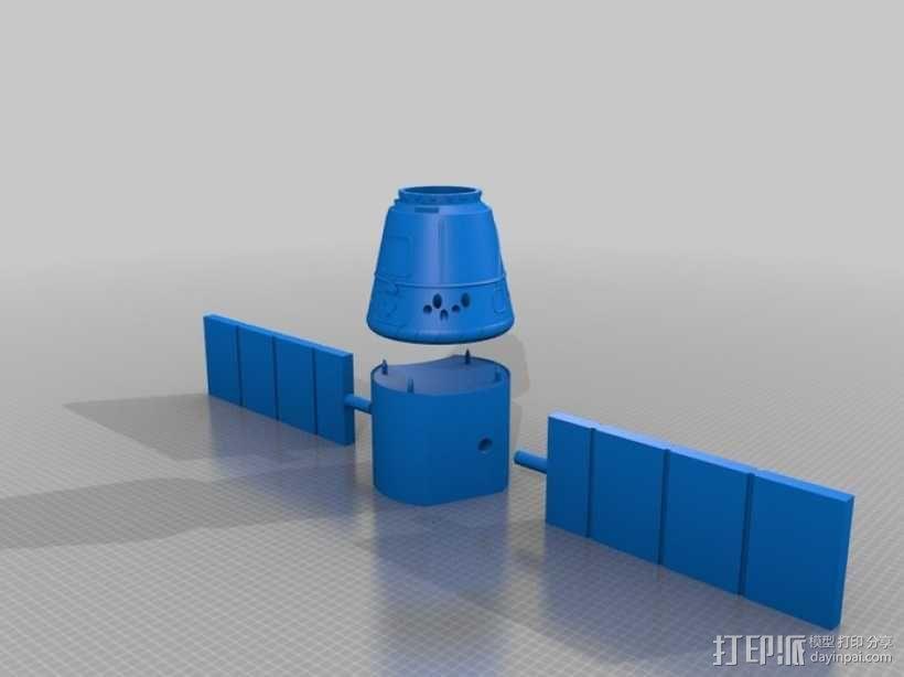 太空运输飞船 3D模型  图1
