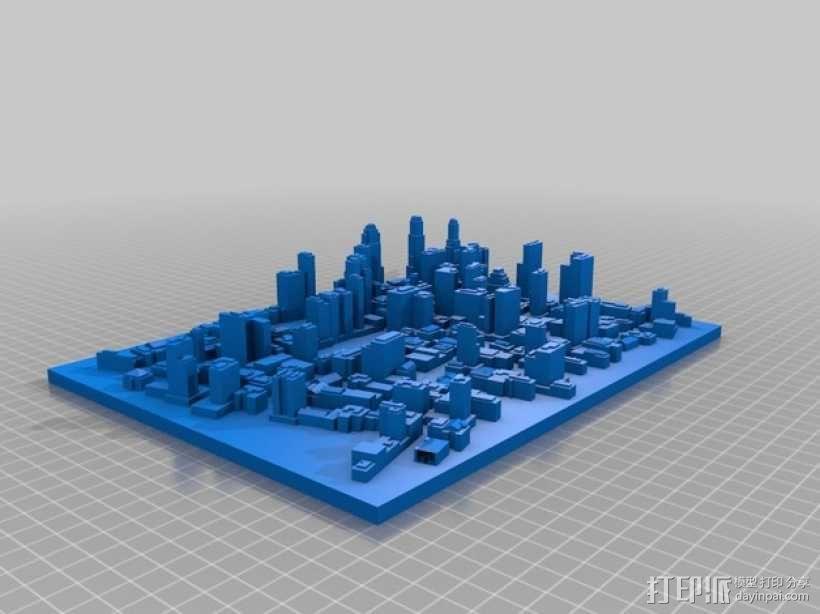 城市建筑地图 3D模型  图1