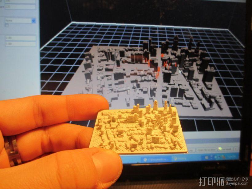 城市建筑地图 3D模型  图2