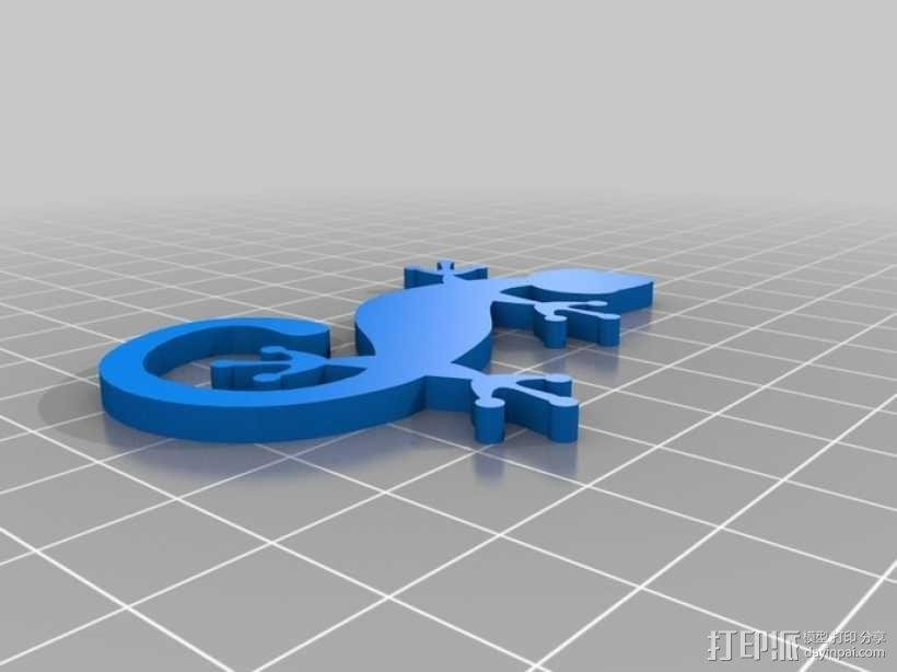 壁虎 3D模型  图1