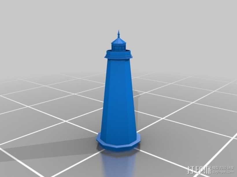 杰纳西河灯塔 3D模型  图1
