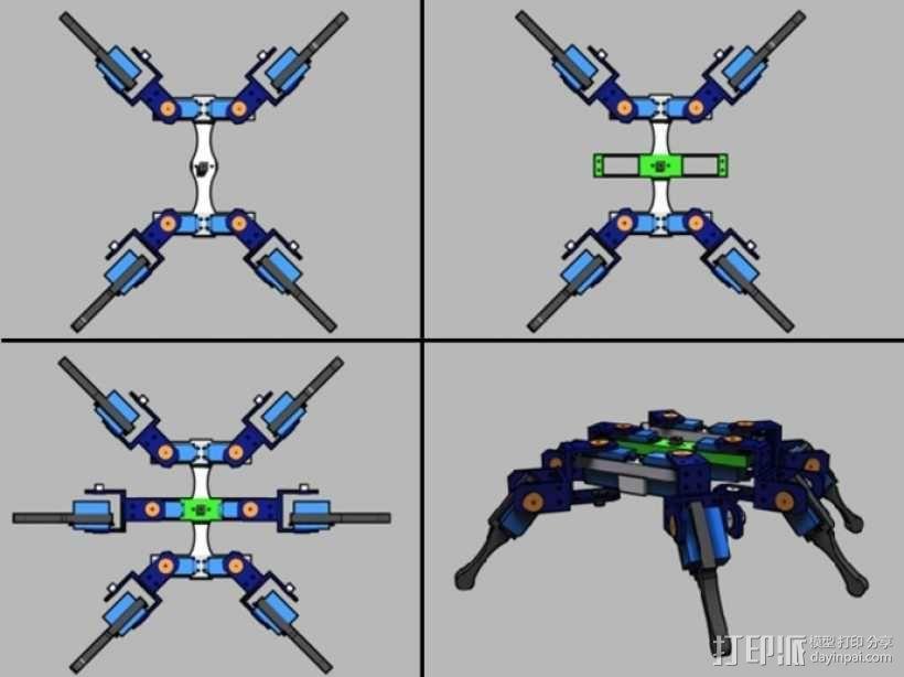 AT-AS四足机器人 3D模型  图3
