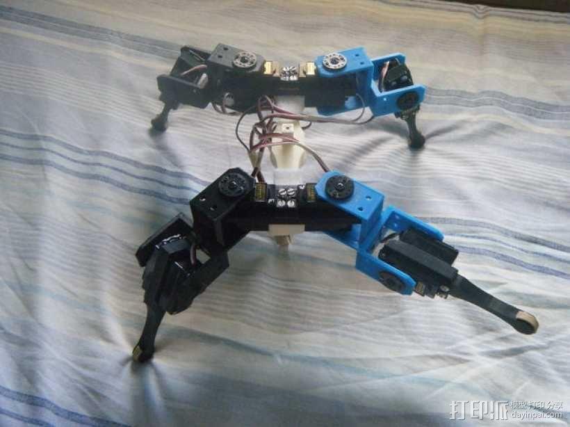 AT-AS四足机器人 3D模型  图1