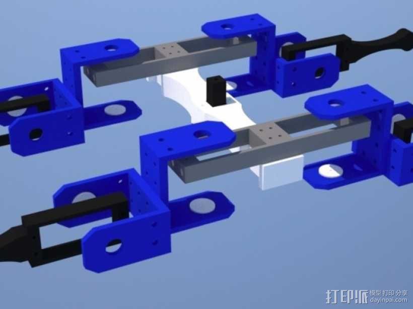 AT-AS四足机器人 3D模型  图2