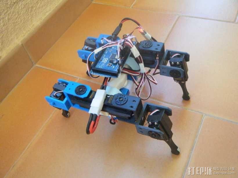 AT-AS四足机器人 3D模型  图4