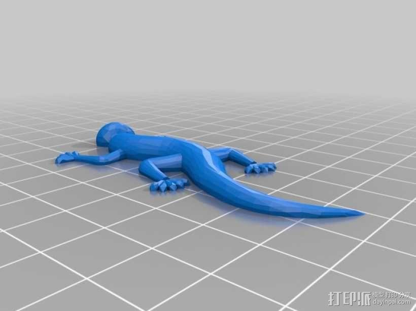 壁虎 蜥蜴 3D模型  图1