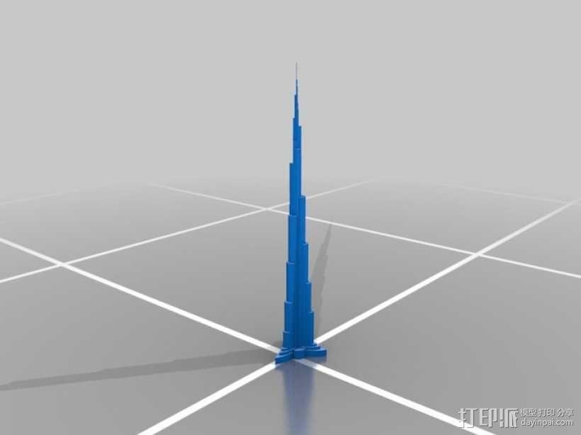 迪拜塔 3D模型  图2