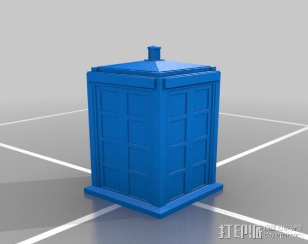塔迪斯警察亭 3D模型  图1
