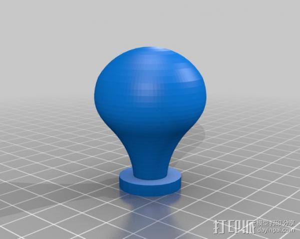 台灯灯泡 3D模型  图1