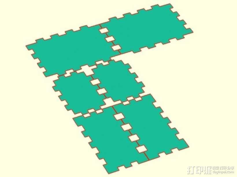参数化激光切割盒子 3D模型  图2