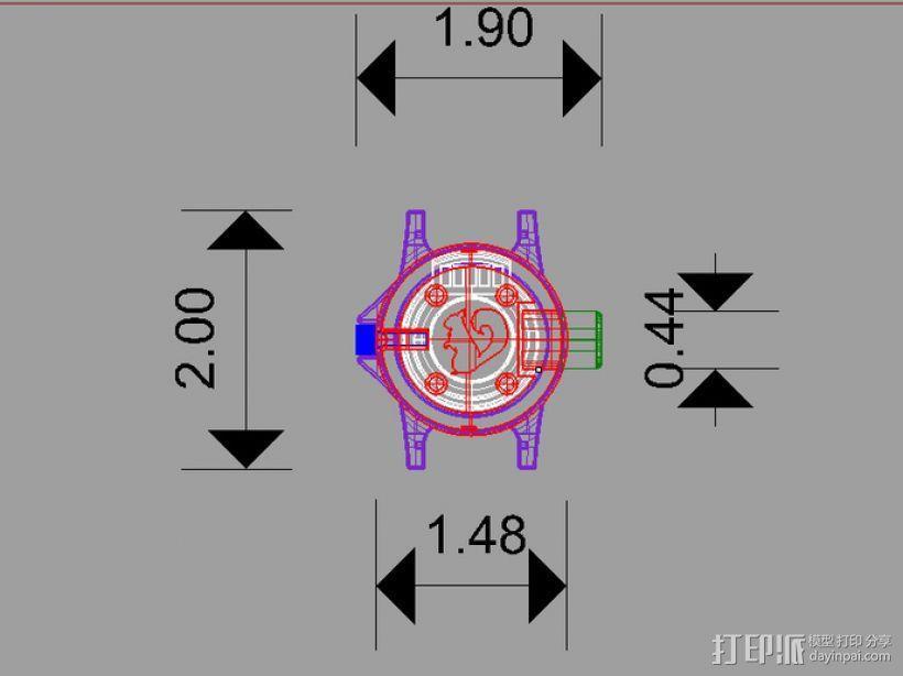 蛛网发射器 3D模型  图1