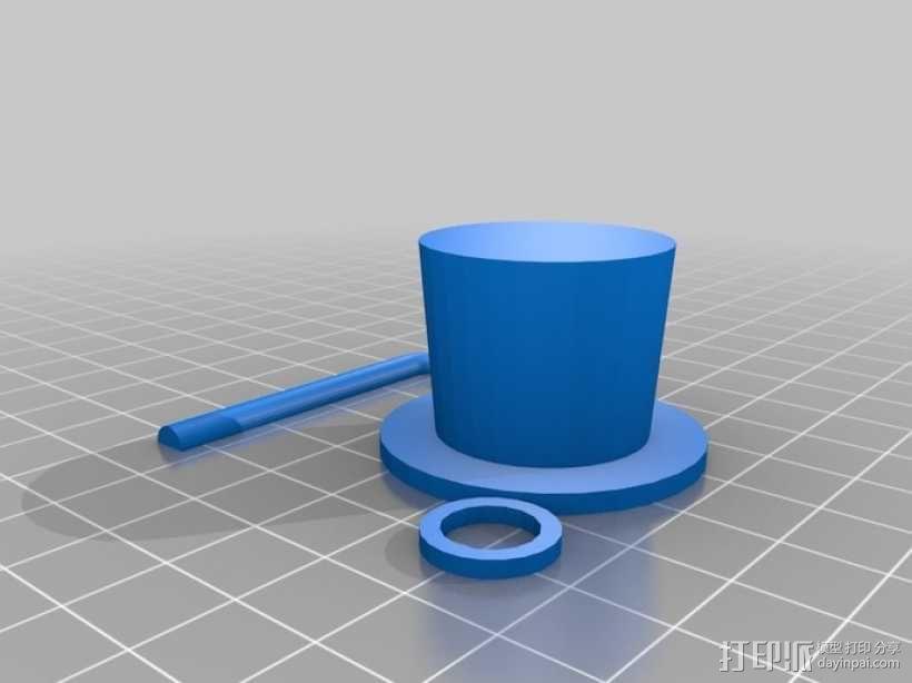 章鱼绅士 3D模型  图3