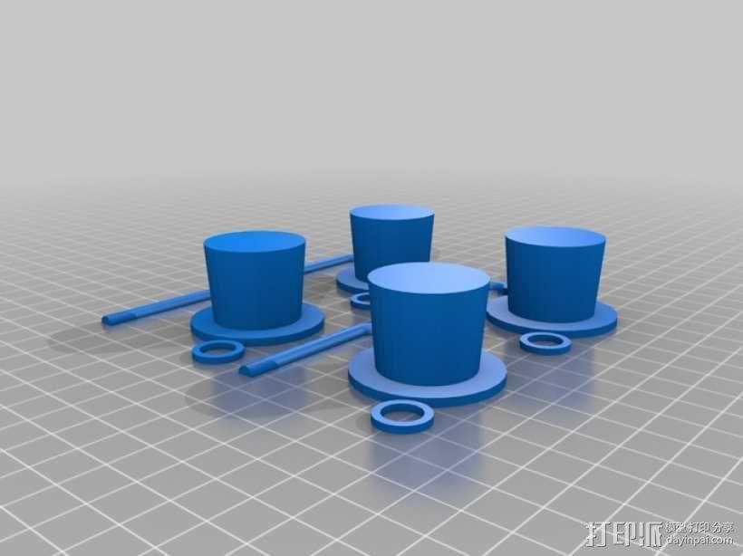 章鱼绅士 3D模型  图4
