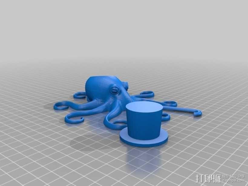 章鱼绅士 3D模型  图5