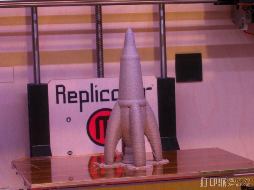 Retro 002火箭  3D模型  图2