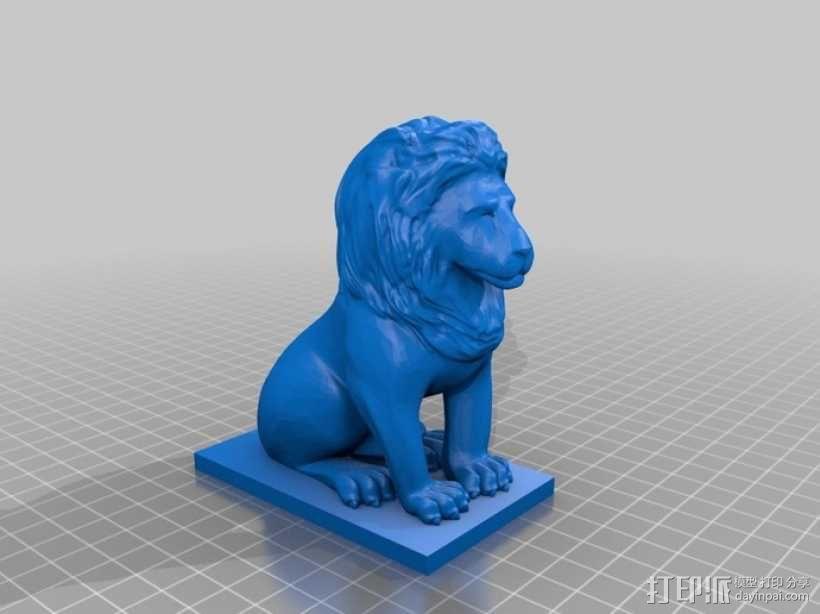 狮子 3D模型  图1