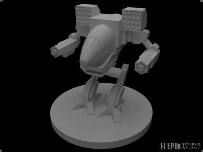 Madcat疯猫机器人 机甲战士  3D模型  图1