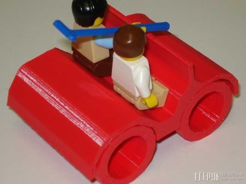 乐高人仔高尔夫车 3D模型  图4