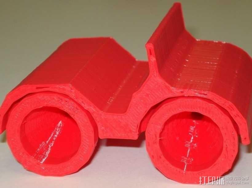 乐高人仔高尔夫车 3D模型  图3