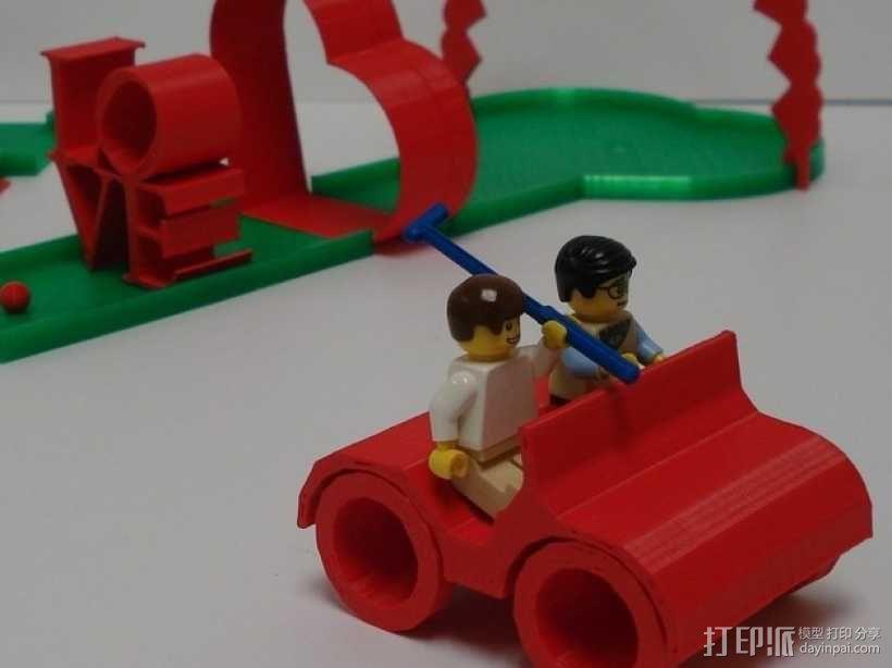 乐高人仔高尔夫车 3D模型  图1
