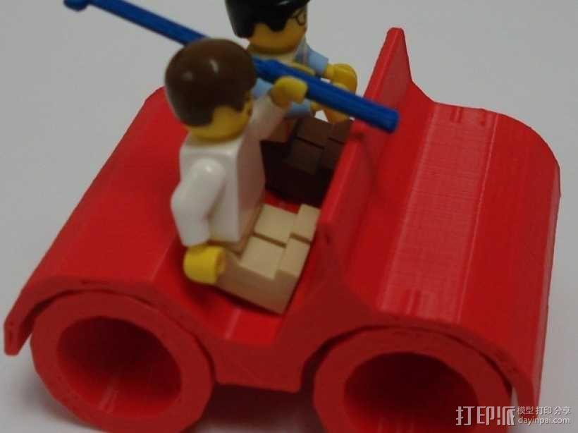 乐高人仔高尔夫车 3D模型  图6