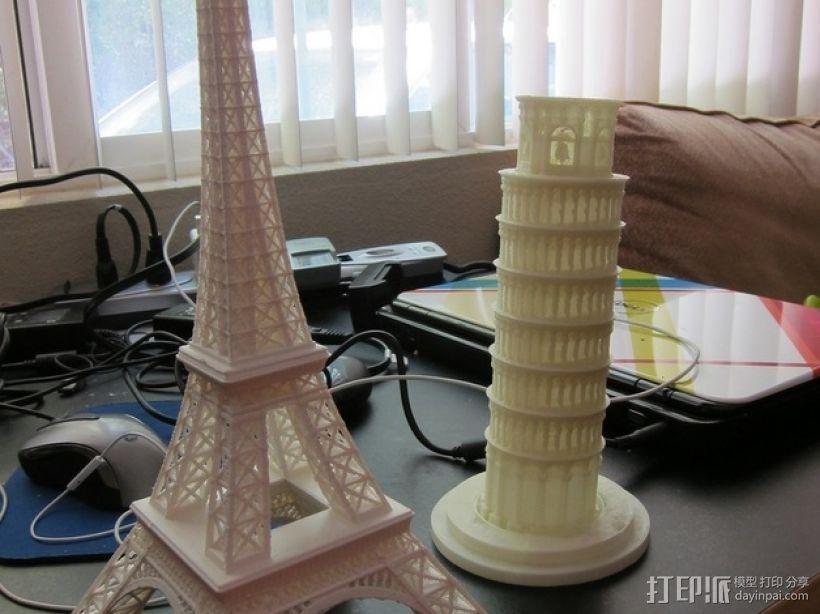 比萨斜塔 3D模型  图3