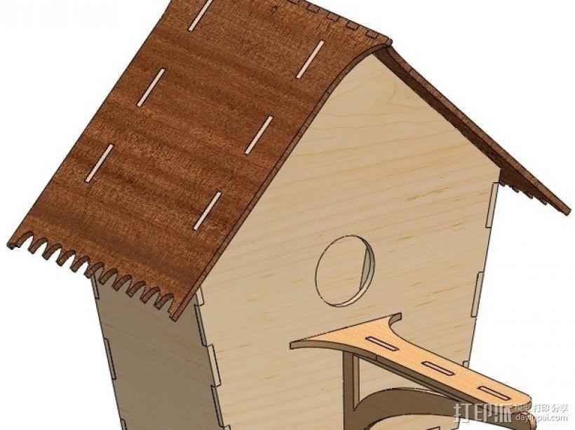 鸟屋 3D模型  图2
