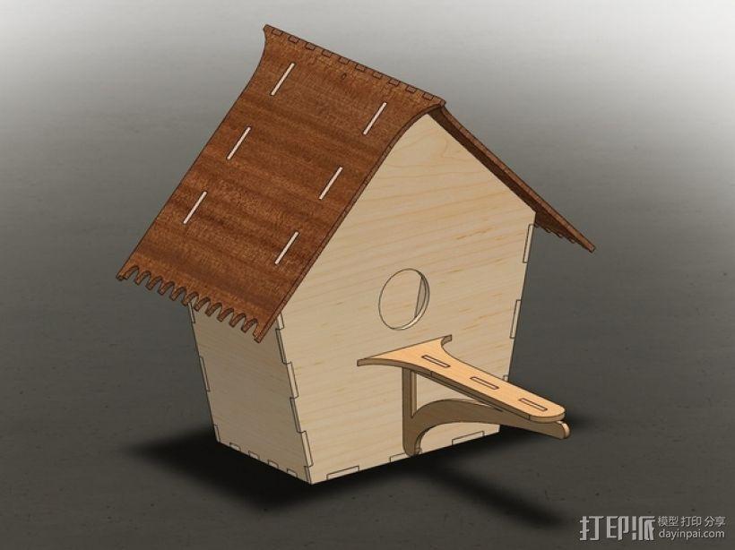 鸟屋 3D模型  图3