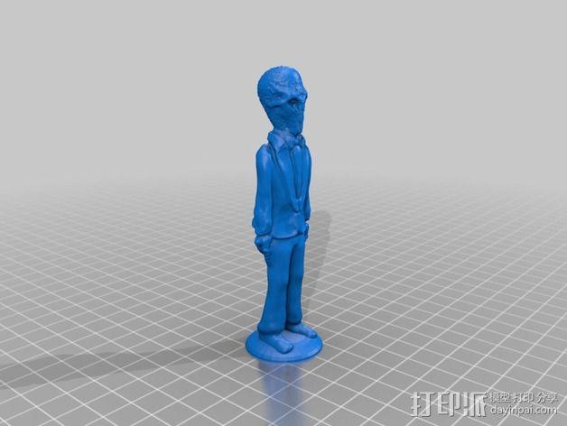 The Silence 电影造型 3D模型  图2