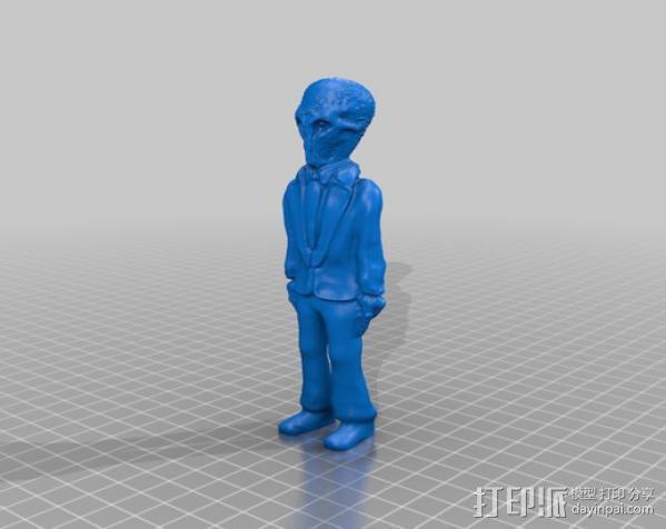 The Silence 电影造型 3D模型  图4
