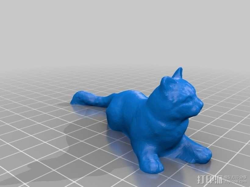 黄色的猫咪 3D模型  图1