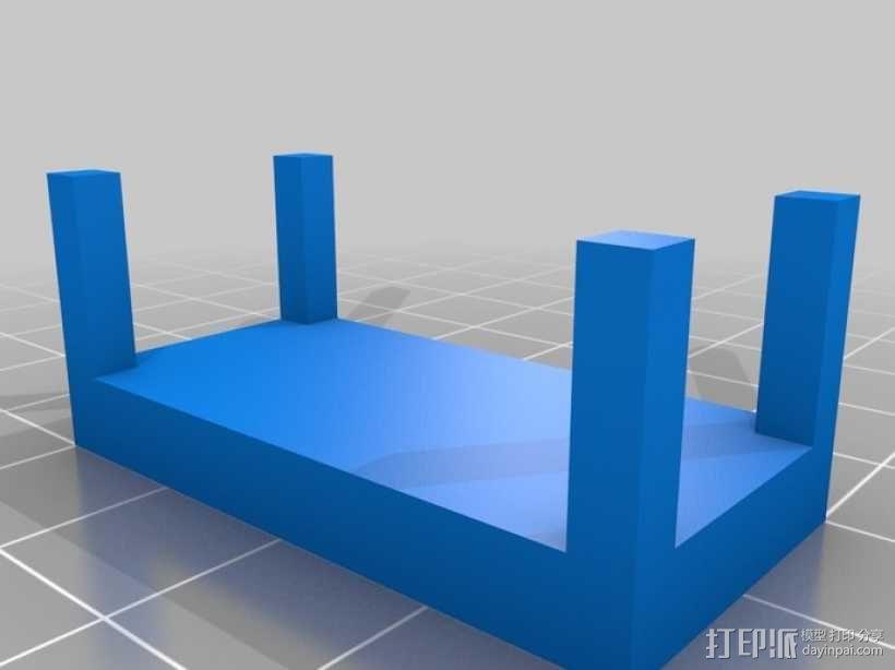 桌椅 桌子和椅子 3D模型  图4