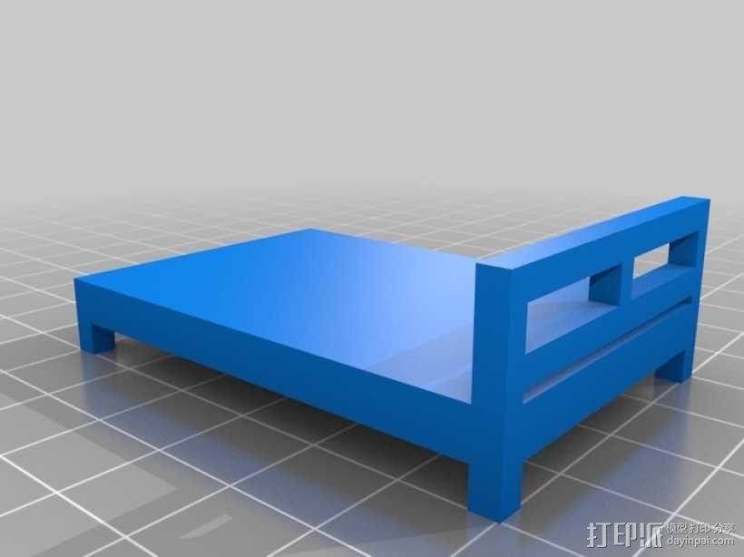 桌椅 桌子和椅子 3D模型  图5
