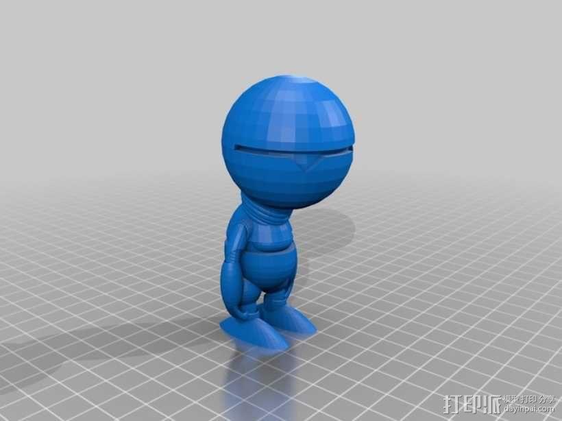 机器人马文 3D模型  图1