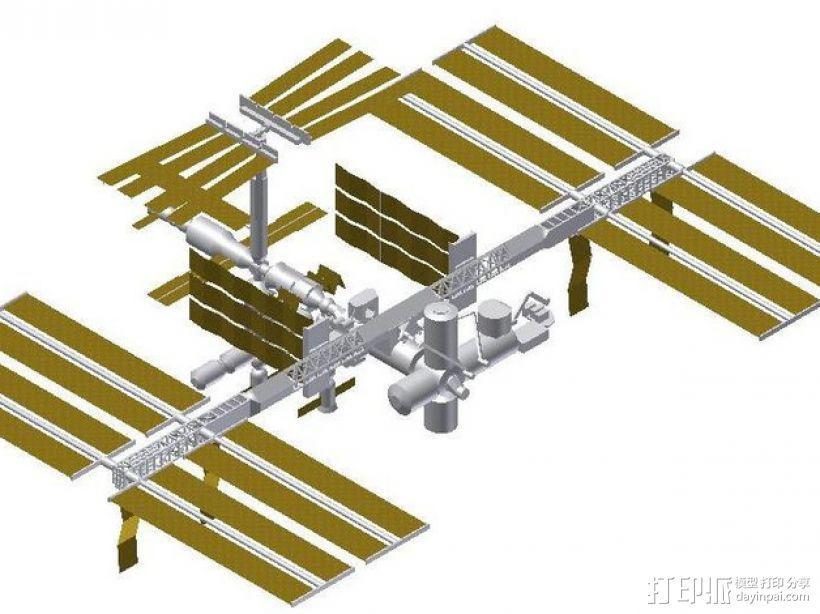 国际空间站模型 3D模型  图1