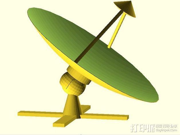 射电望远镜 3D模型  图2