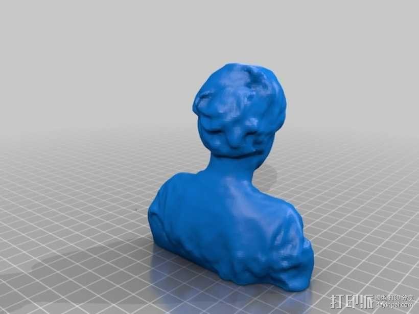 Wess半身像 3D模型  图1