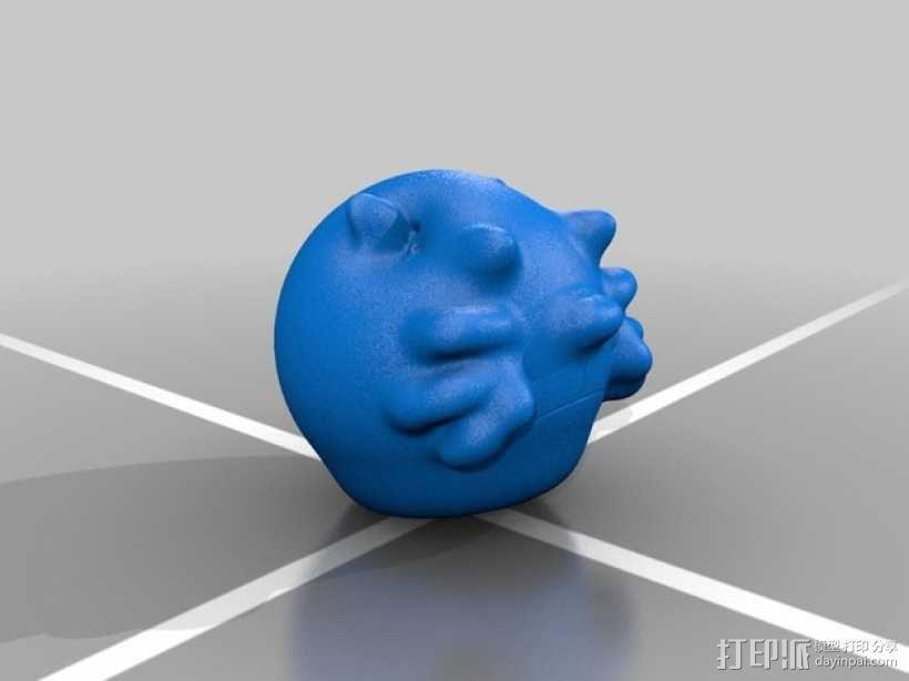 小睡鼠  3D模型  图2