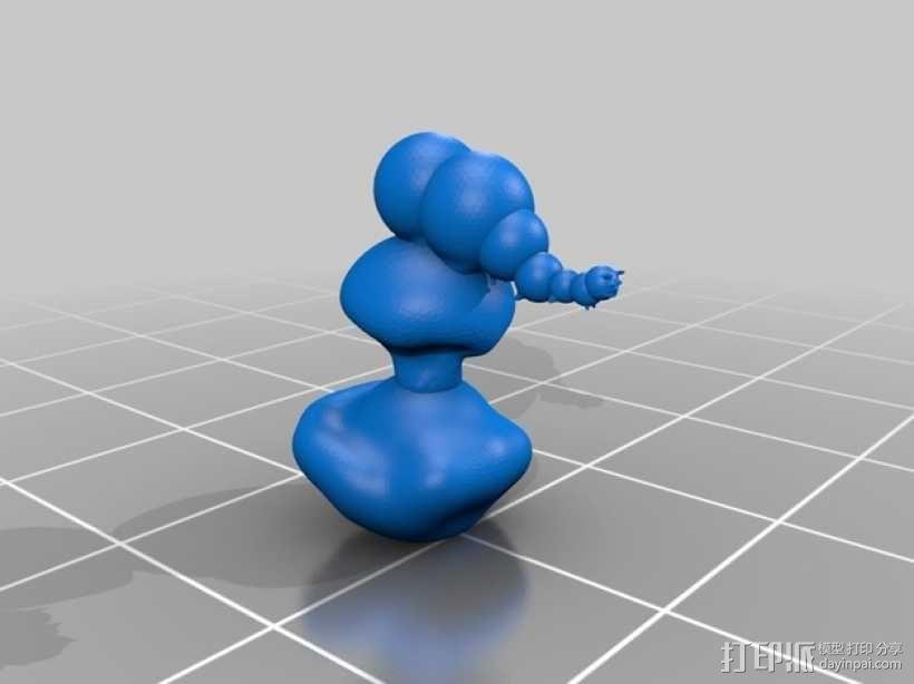 小毛虫 3D模型  图2