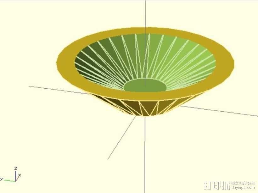 烟灰缸 3D模型  图1