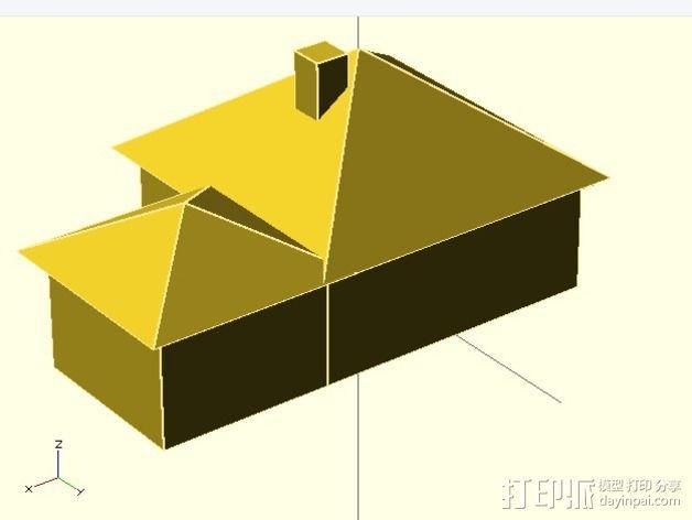 房屋模型 3D模型  图1